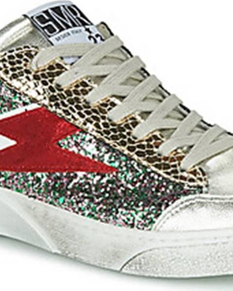 Stříbrné tenisky Semerdjian