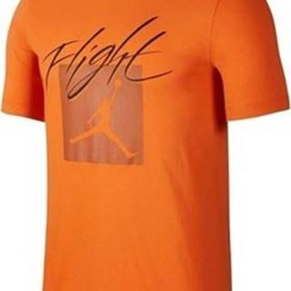 Nike Trička s krátkým rukávem Jordan Jumpman Flt Crew Oranžová