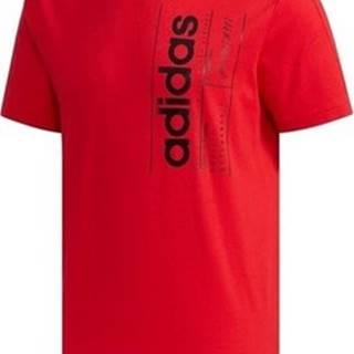 adidas Trička s krátkým rukávem Brilliant Basics Červená
