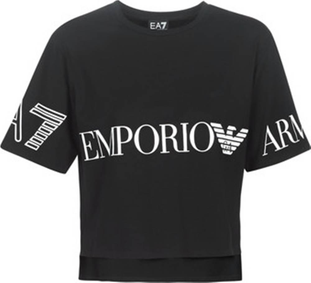 Emporio Armani EA7 Emporio Armani EA7 Trička s krátkým rukávem TRAIN SHINY W CROP TEE SS RN Černá