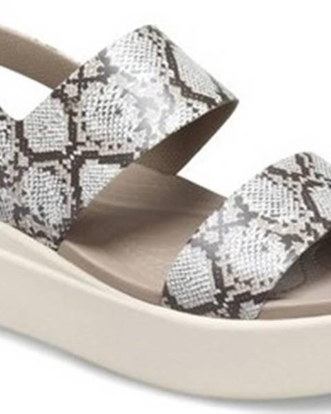 Béžové sandály crocs