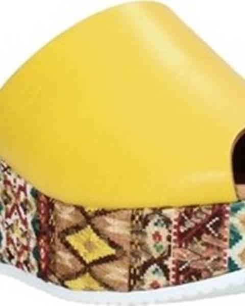 Žluté pantofle Grace Shoes