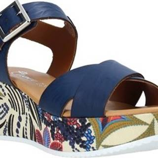 Grace Shoes Sandály 12 Modrá