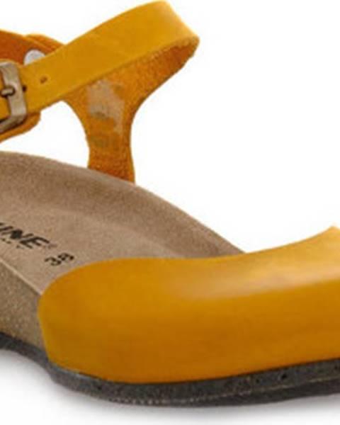 Žluté sandály Bioline