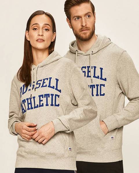 Šedá mikina Russell Athletic
