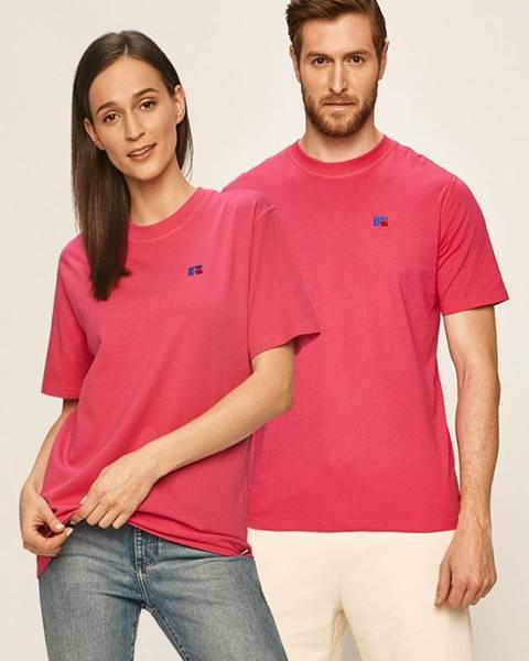 Růžové tričko Russell Athletic