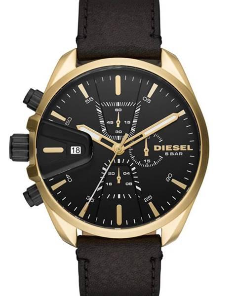 Černé hodinky Diesel