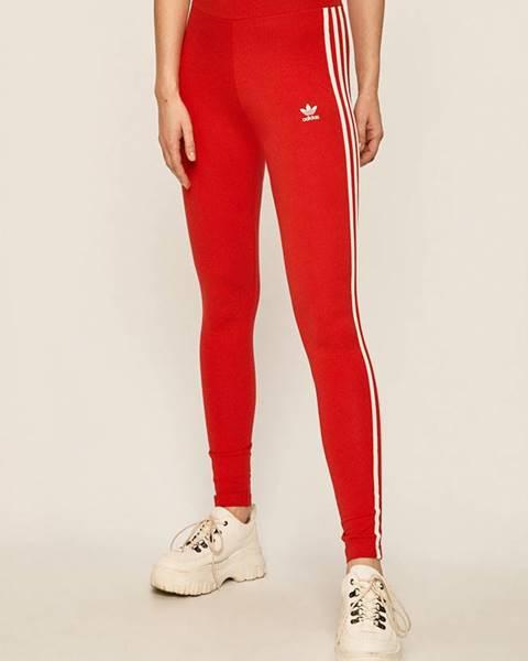 Červené kalhoty adidas originals