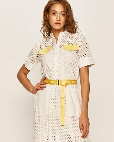 Bílé šaty karl lagerfeld
