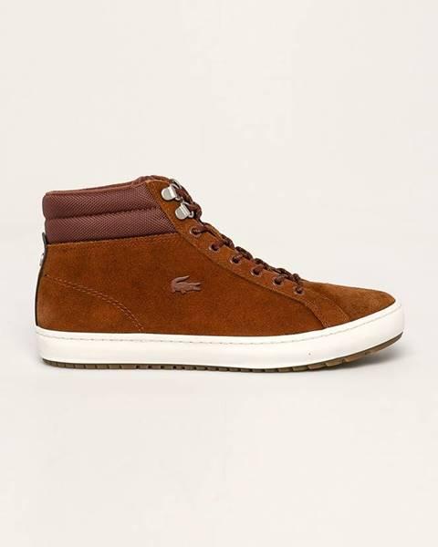 Hnědé boty lacoste