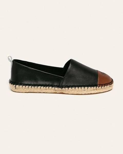 Černé boty lauren ralph lauren