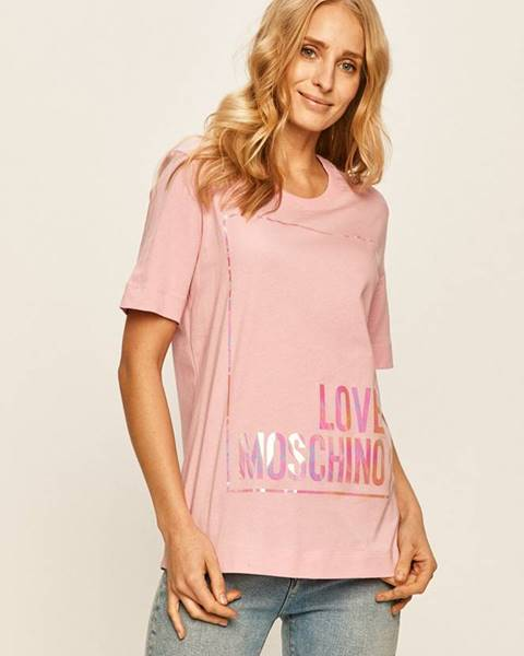 Růžový top Love Moschino
