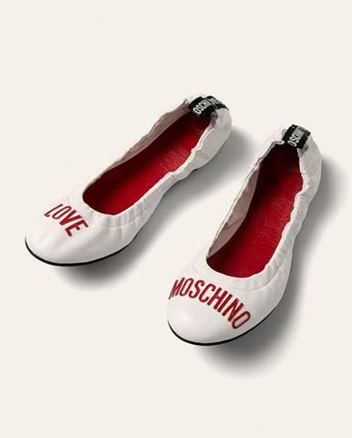 Bílé baleríny Love Moschino
