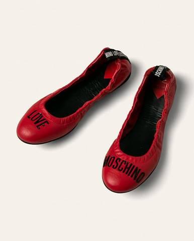 Červené baleríny Love Moschino
