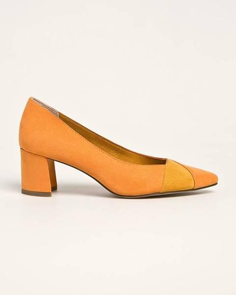 Oranžové boty Marco Tozzi