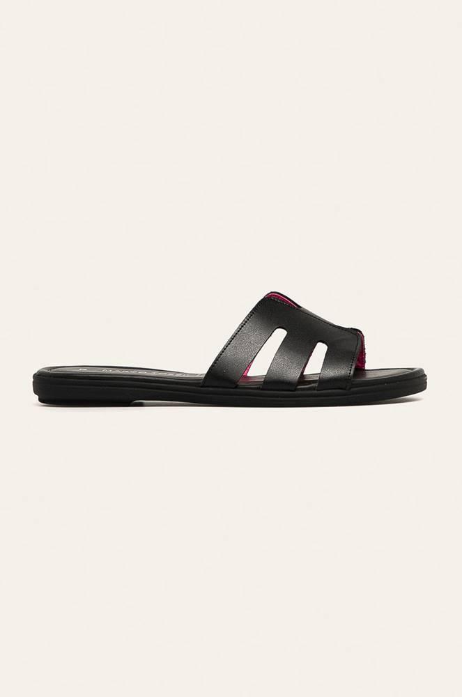 Marco Tozzi Marco Tozzi - Kožené pantofle