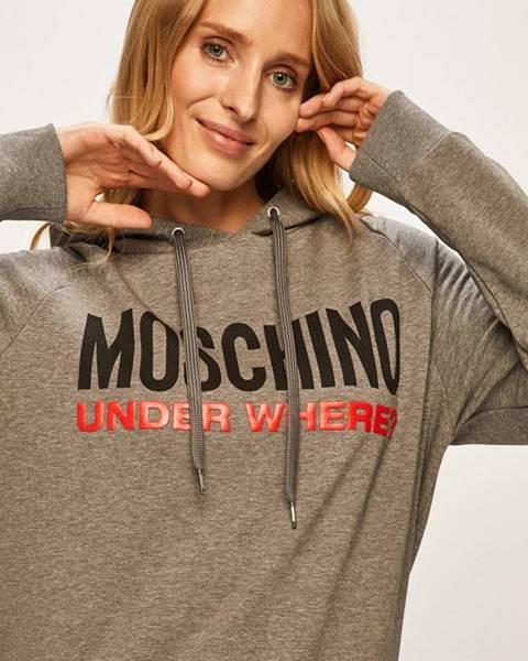 Šedá mikina Moschino Underwear