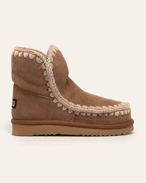 Hnědé boty Mou