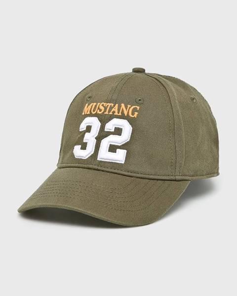 Zelená čepice Mustang