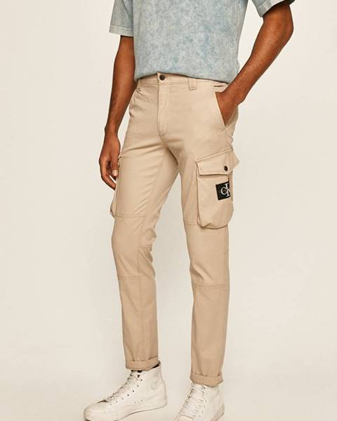 Béžové kalhoty calvin klein jeans