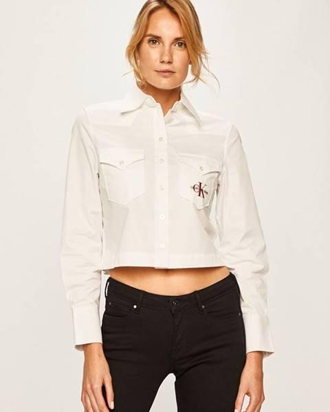 Bílá halenka calvin klein jeans