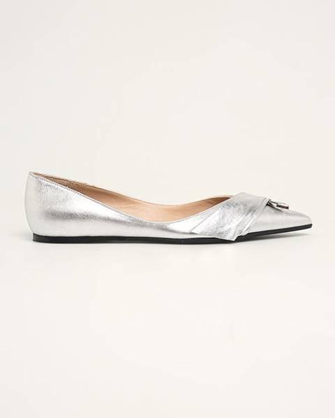 Stříbrné baleríny Patrizia Pepe