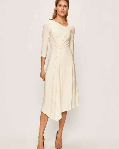 Béžové šaty Patrizia Pepe