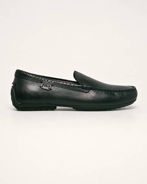 Černé boty Polo Ralph Lauren