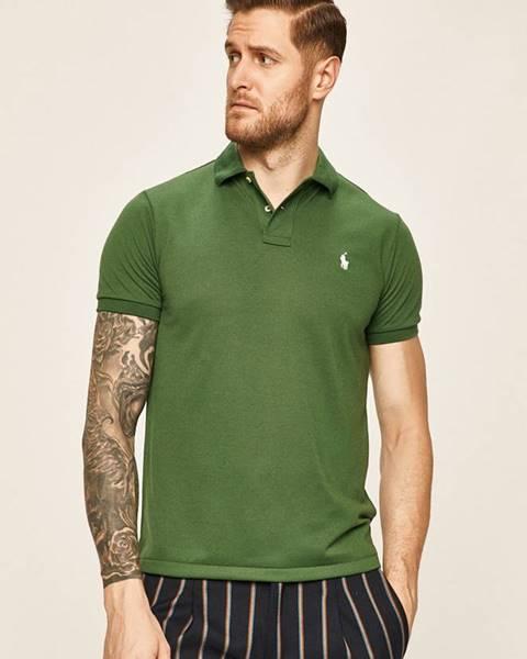 Zelené tričko Polo Ralph Lauren
