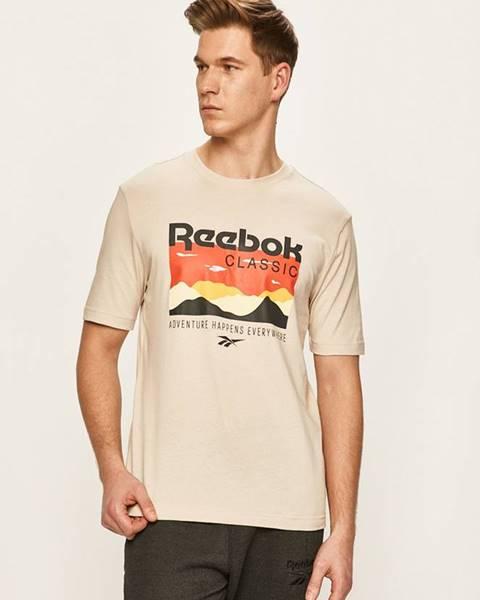 Béžové tričko reebok classic