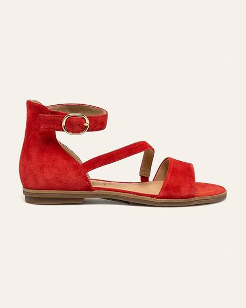 Červené boty s.oliver
