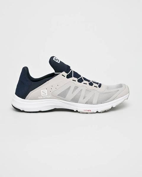 Béžové boty Salomon