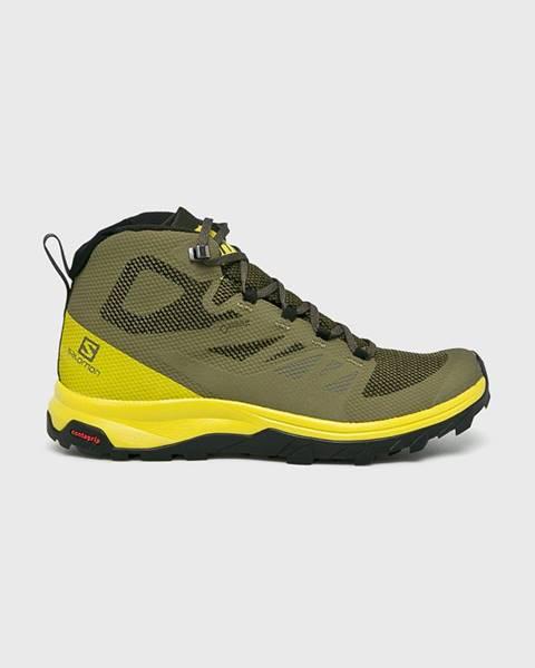 Zelené boty Salomon
