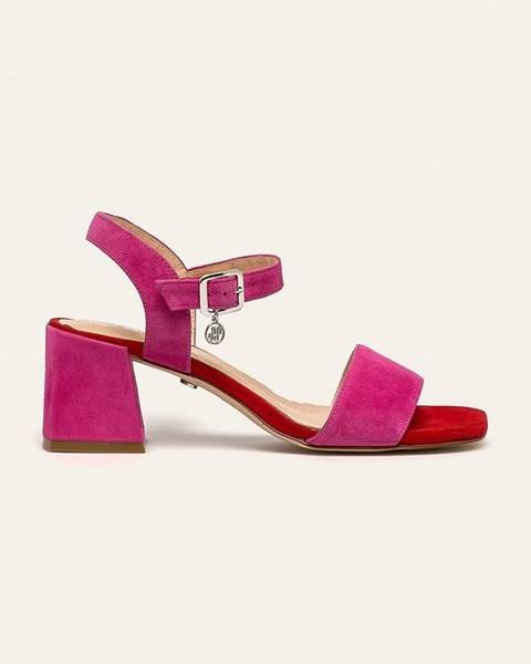 Růžové boty Solo Femme