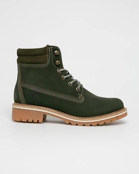Zelené boty tamaris