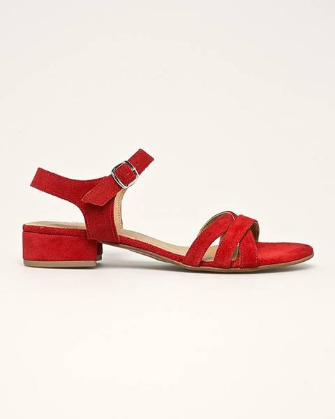 Červené boty tamaris