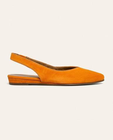 Oranžové baleríny tamaris