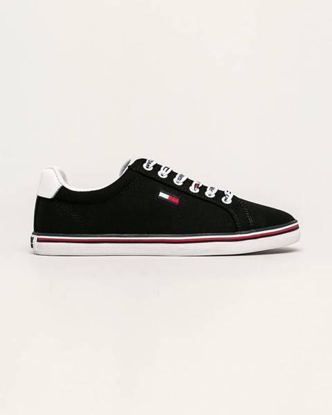 Černé boty Tommy Jeans