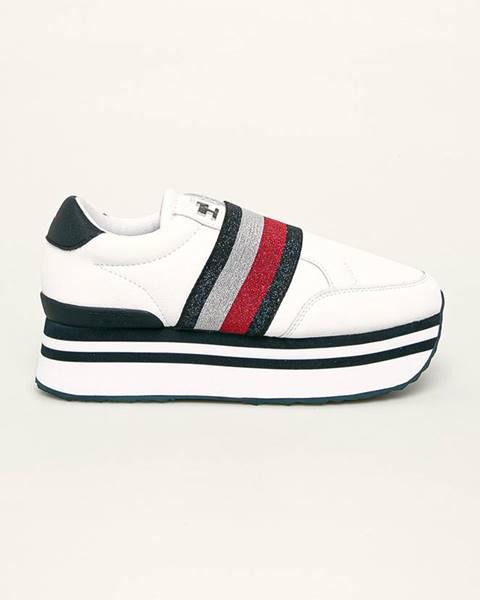 Bílé boty tommy hilfiger