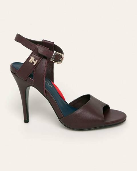 Burgundské boty tommy hilfiger