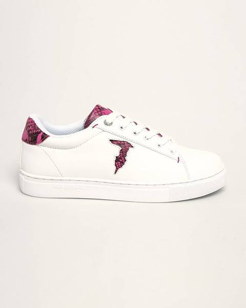 Bílé boty Trussardi Jeans