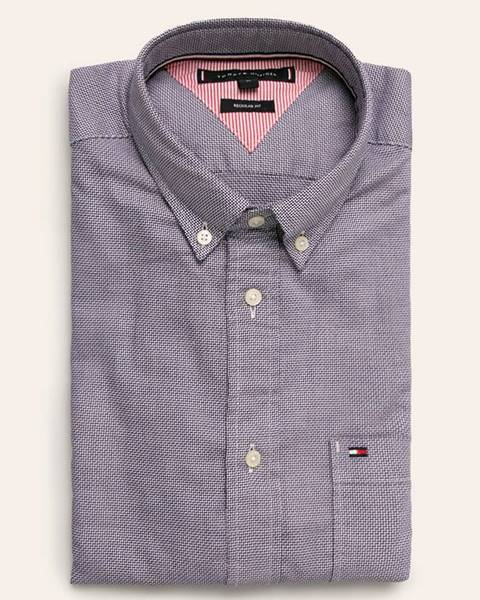 Fialová košile tommy hilfiger