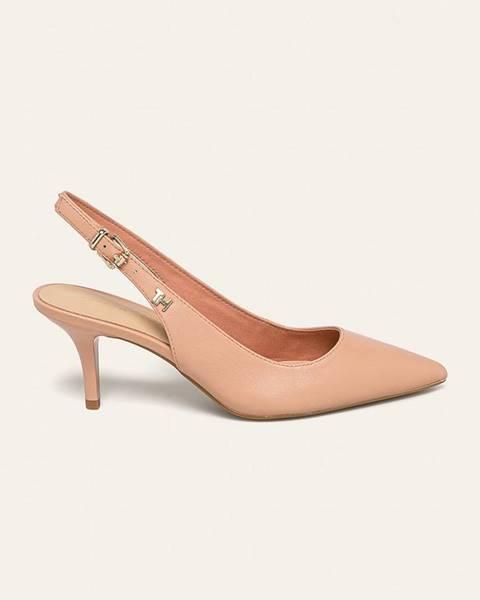 Béžové boty tommy hilfiger