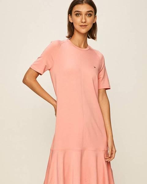 Růžové šaty tommy hilfiger