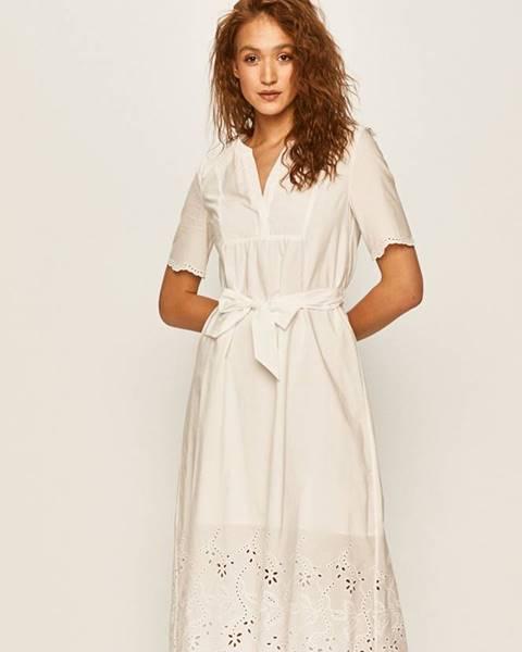 Bílé šaty tommy hilfiger
