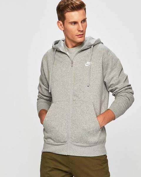 Šedá mikina Nike Sportswear