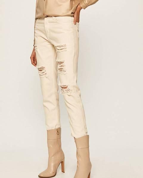 Béžové kalhoty ANSWEAR