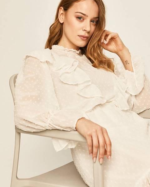 Bílé šaty ANSWEAR