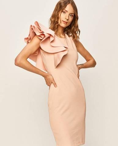 Růžové šaty ANSWEAR