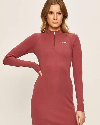Růžové šaty Nike Sportswear